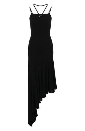 Женское платье из вискозы OFF-WHITE черного цвета, арт. 0WDB326S21JER001 | Фото 1