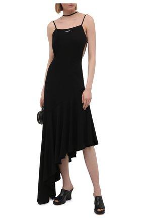 Женское платье из вискозы OFF-WHITE черного цвета, арт. 0WDB326S21JER001 | Фото 2