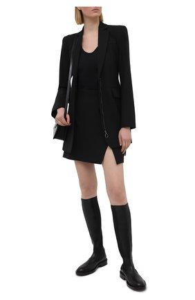 Женская юбка OFF-WHITE черного цвета, арт. 0WCC117S21FAB001 | Фото 2