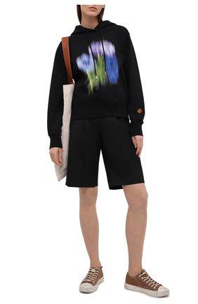 Женский хлопковое худи KENZO черного цвета, арт. FB52SW8704M0 | Фото 2