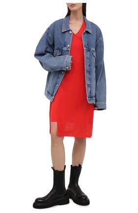 Женское хлопковое платье KENZO красного цвета, арт. FB52R07954SA | Фото 2