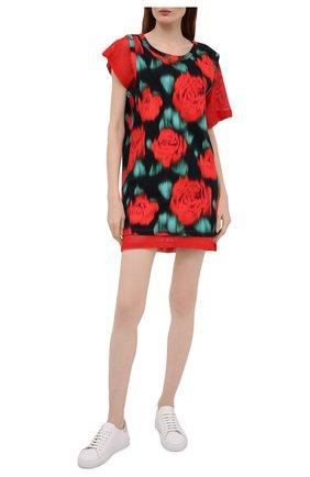 Женское хлопковое платье KENZO разноцветного цвета, арт. FB52R07944SI   Фото 2
