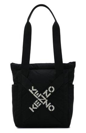 Женский сумка-шопер kenzo sport KENZO черного цвета, арт. FA62SA227F21 | Фото 1