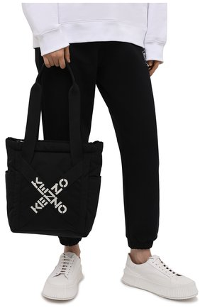 Женский сумка-шопер kenzo sport KENZO черного цвета, арт. FA62SA227F21 | Фото 2