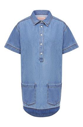 Женское джинсовое платье ERMANNO FIRENZE голубого цвета, арт. D38ET AB490PR | Фото 1