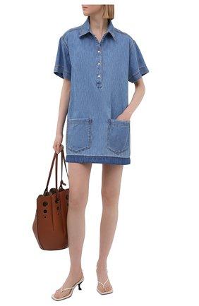 Женское джинсовое платье ERMANNO FIRENZE голубого цвета, арт. D38ET AB490PR | Фото 2