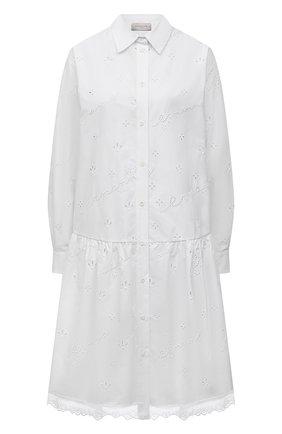 Женское хлопковое платье ERMANNO FIRENZE белого цвета, арт. D38ET AB56SAN | Фото 1