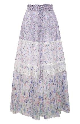 Женская юбка из вискозы ERMANNO FIRENZE сиреневого цвета, арт. D38ET GN03GFF | Фото 1