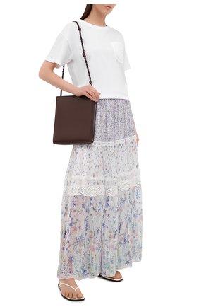 Женская юбка из вискозы ERMANNO FIRENZE сиреневого цвета, арт. D38ET GN03GFF | Фото 2