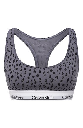Женский бюстгальтер с логотипом бренда CALVIN KLEIN серого цвета, арт. F3785E | Фото 1
