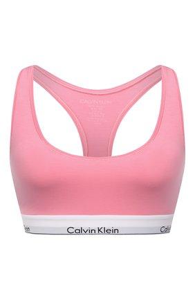 Женский бюстгальтер с логотипом бренда CALVIN KLEIN розового цвета, арт. F3785E | Фото 1