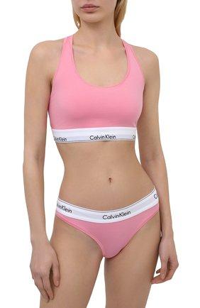 Женский бюстгальтер с логотипом бренда CALVIN KLEIN розового цвета, арт. F3785E | Фото 2