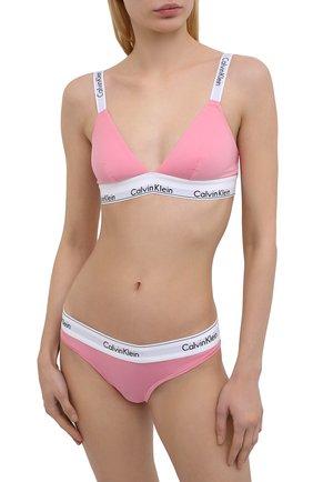 Женские трусы-стринги CALVIN KLEIN JEANS розового цвета, арт. F3786E | Фото 2