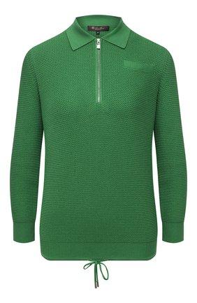 Женский пуловер из шелка и хлопка LORO PIANA зеленого цвета, арт. FAL5792 | Фото 1