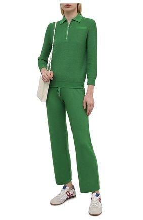 Женский пуловер из шелка и хлопка LORO PIANA зеленого цвета, арт. FAL5792 | Фото 2