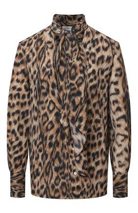 Женская блузка из вискозы VICTORIA BECKHAM леопардового цвета, арт. 1221WSH002526A | Фото 1