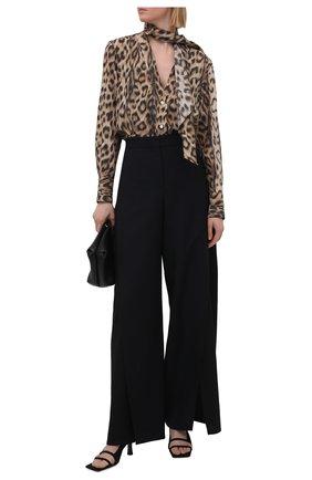 Женская блузка из вискозы VICTORIA BECKHAM леопардового цвета, арт. 1221WSH002526A | Фото 2