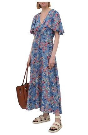 Женское платье из вискозы PIETRO BRUNELLI разноцветного цвета, арт. AG0446/VI0090/Q96A   Фото 2