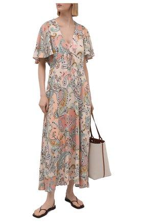 Женское платье из вискозы PIETRO BRUNELLI разноцветного цвета, арт. AG0446/VI0091/Q141 | Фото 2