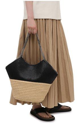 Женский сумка-тоут falabella STELLA MCCARTNEY черного цвета, арт. 700224/W8805 | Фото 2 (Материал: Текстиль; Сумки-технические: Сумки-шопперы; Размер: large)