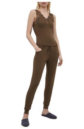 Женские брюки ZIMMERLI хаки цвета, арт. 762-3955 | Фото 2