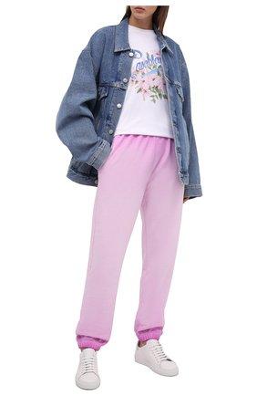 Женские хлопковые джоггеры OPENING CEREMONY розового цвета, арт. YWCH003S21FLE001   Фото 2