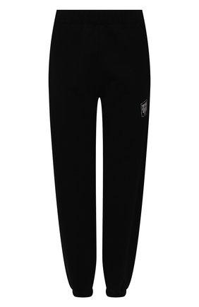 Женские хлопковые джоггеры OPENING CEREMONY черного цвета, арт. YWCH003S21FLE002 | Фото 1 (Силуэт Ж (брюки и джинсы): Джоггеры; Женское Кросс-КТ: Джоггеры - брюки; Длина (брюки, джинсы): Стандартные; Стили: Спорт-шик; Материал внешний: Хлопок)
