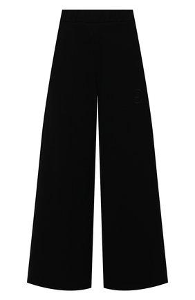 Женские хлопковые брюки OPENING CEREMONY черного цвета, арт. YWCH004S21FLE004   Фото 1