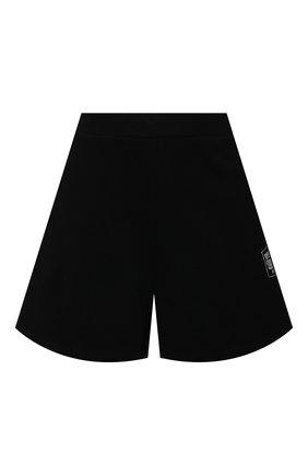 Женские хлопковые шорты OPENING CEREMONY черно-белого цвета, арт. YWCI001S21FLE002 | Фото 1