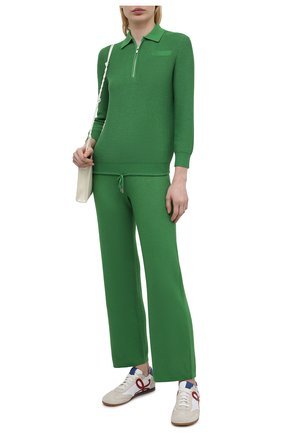 Женские брюки из шелка и хлопка LORO PIANA зеленого цвета, арт. FAL5795 | Фото 2