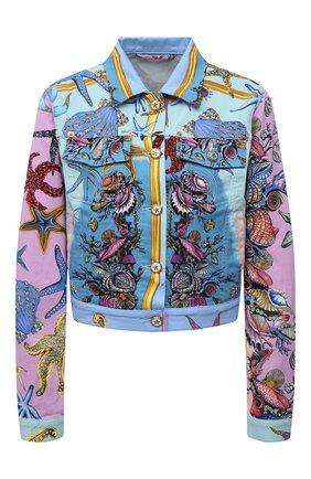 Женская джинсовая куртка VERSACE разноцветного цвета, арт. A89233/1F01129 | Фото 1