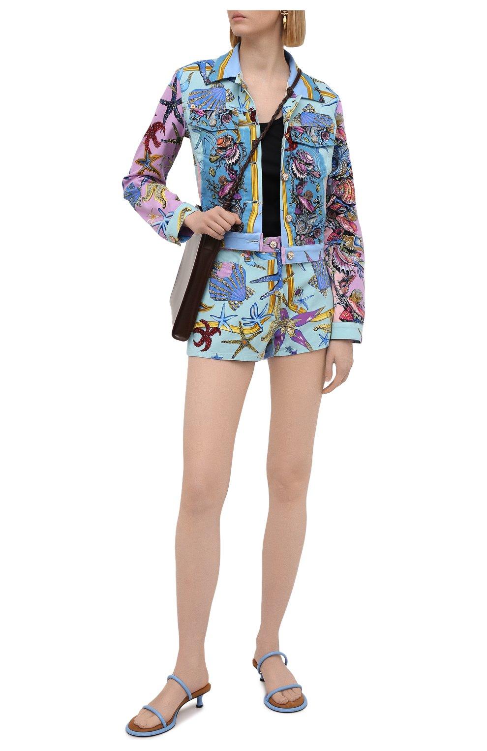 Женская джинсовая куртка VERSACE разноцветного цвета, арт. A89233/1F01129 | Фото 2