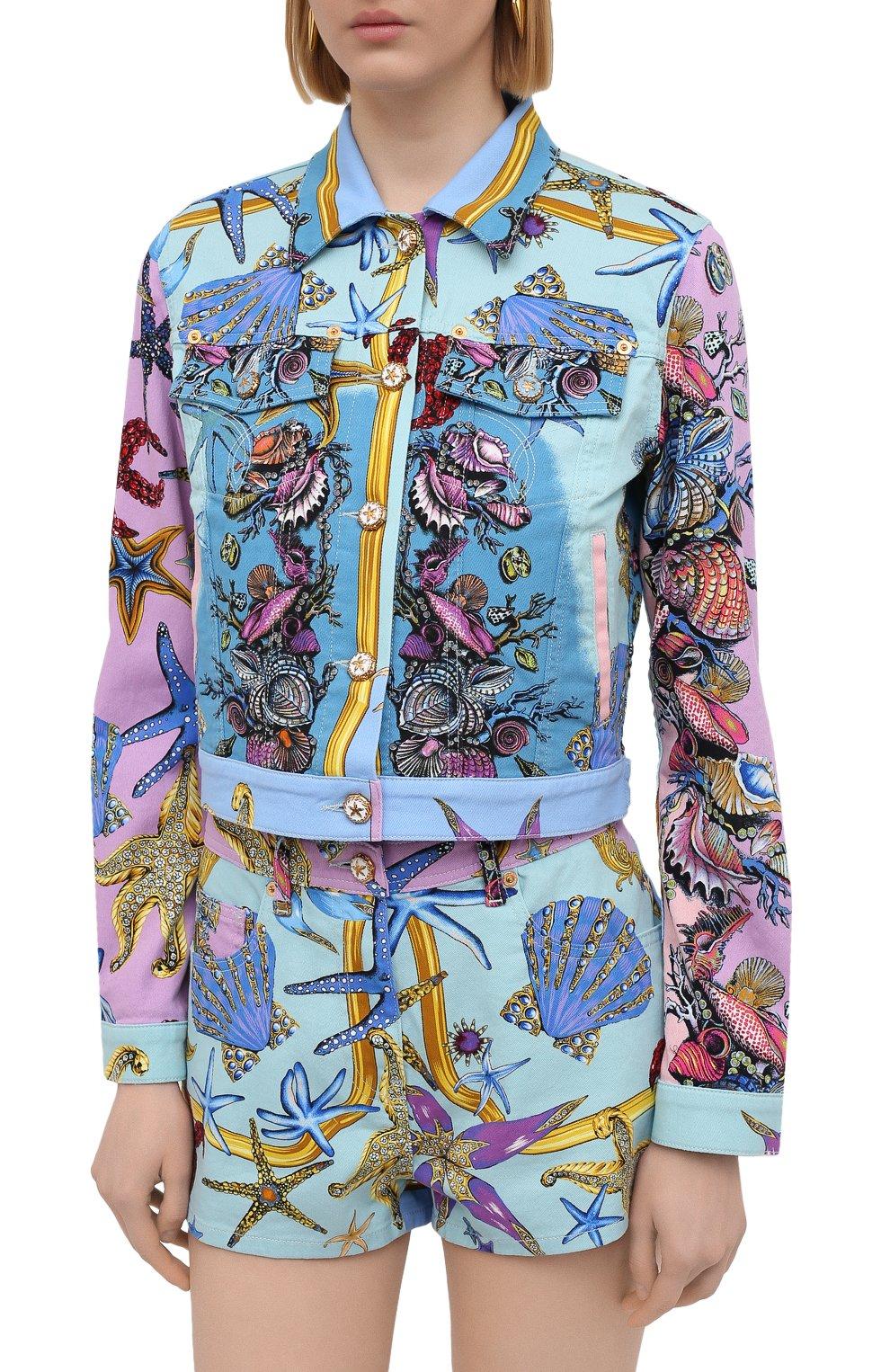 Женская джинсовая куртка VERSACE разноцветного цвета, арт. A89233/1F01129 | Фото 3