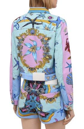 Женская джинсовая куртка VERSACE разноцветного цвета, арт. A89233/1F01129 | Фото 4