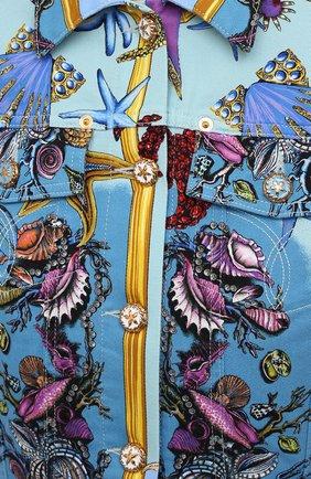 Женская джинсовая куртка VERSACE разноцветного цвета, арт. A89233/1F01129 | Фото 5