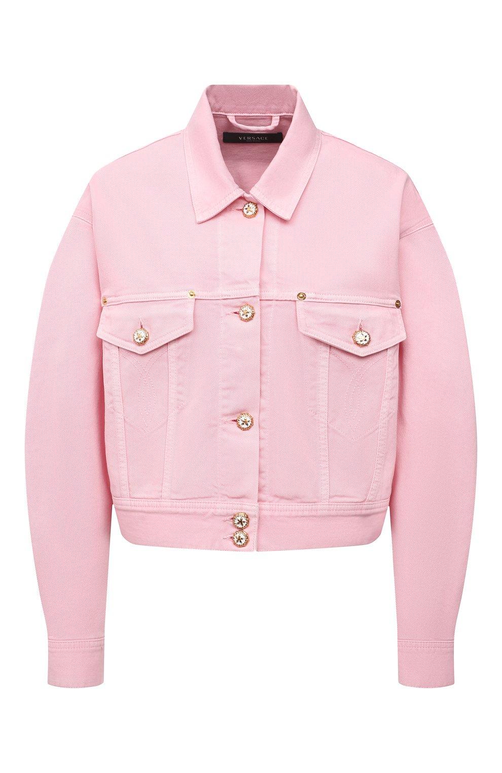 Женская джинсовая куртка VERSACE светло-розового цвета, арт. A88851/A236174 | Фото 1