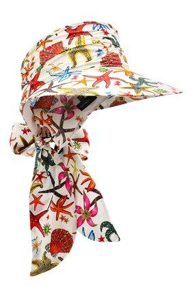 Женский шелковый козырек VERSACE белого цвета, арт. ICAP025/1F01357 | Фото 1