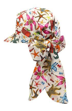 Женский шелковый козырек VERSACE белого цвета, арт. ICAP025/1F01357 | Фото 2
