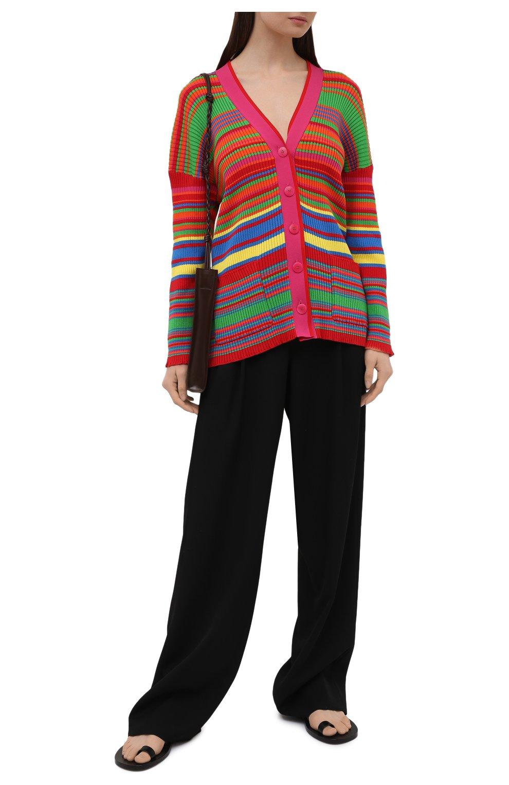 Женский хлопковый кардиган VERSACE разноцветного цвета, арт. A89294/A237539 | Фото 2