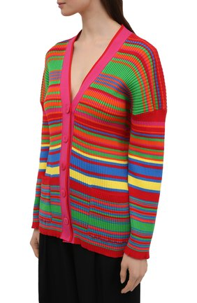 Женский хлопковый кардиган VERSACE разноцветного цвета, арт. A89294/A237539 | Фото 3