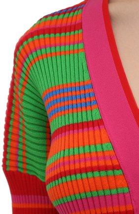 Женский хлопковый кардиган VERSACE разноцветного цвета, арт. A89294/A237539 | Фото 5