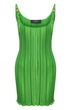 Женское платье VERSACE зеленого цвета, арт. A89018/1F00732 | Фото 1
