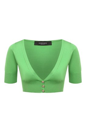 Женский шелковый топ VERSACE зеленого цвета, арт. A88423/A237533 | Фото 1