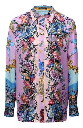 Женская шелковая рубашка VERSACE разноцветного цвета, арт. A82662/1F00905 | Фото 1
