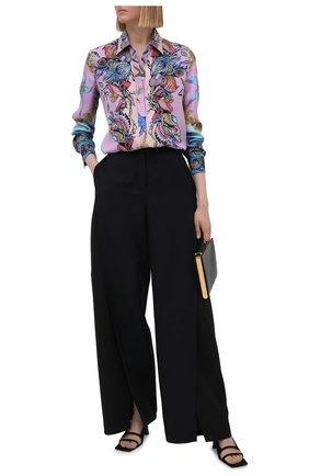 Женская шелковая рубашка VERSACE разноцветного цвета, арт. A82662/1F00905 | Фото 2