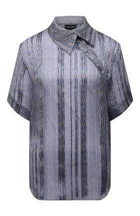 Женская шелковая блузка GIORGIO ARMANI голубого цвета, арт. 1WHCC01I/T02MT | Фото 1