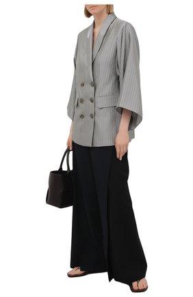 Женский жакет EMPORIO ARMANI серого цвета, арт. ANG23T/A2103 | Фото 2