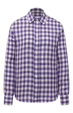 Женская хлопковая рубашка AMI фиолетового цвета, арт. E21FC080.295 | Фото 1