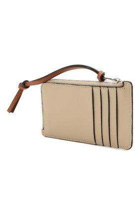 Женский кожаный футляр для кредитных карт loewe x paula's ibiza LOEWE белого цвета, арт. C643Z40X10   Фото 2