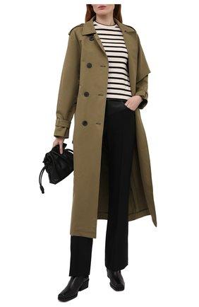 Женские брюки HELMUT LANG черного цвета, арт. L01HW203 | Фото 2